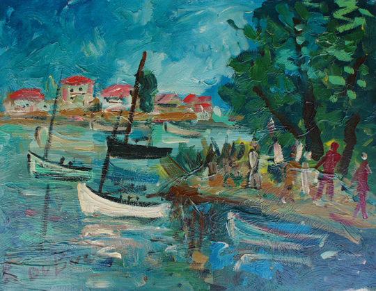 Dubuc Roland artiste peintre présent à la Galerie Cortade Art